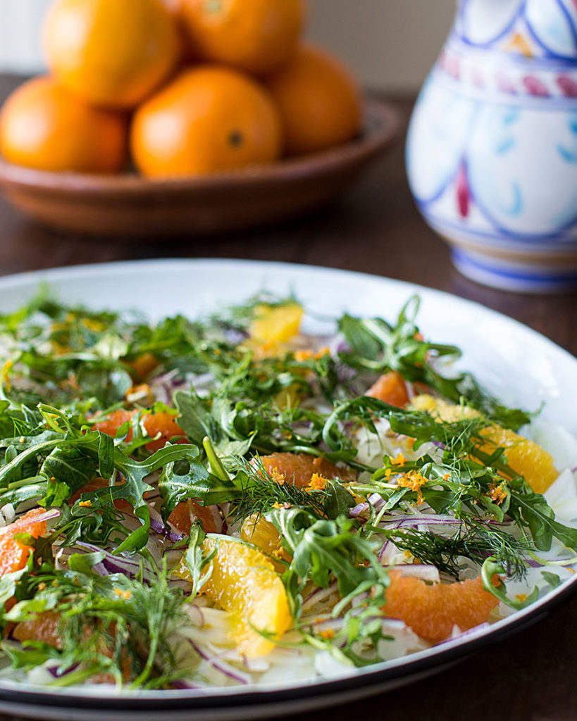 Fennel, orange and arugula salad
