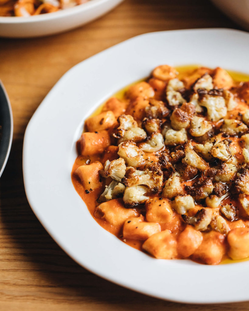 Gnocchi with roasted cauliflower and Rosée