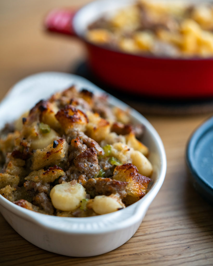Italian sausage and panettone stuffing