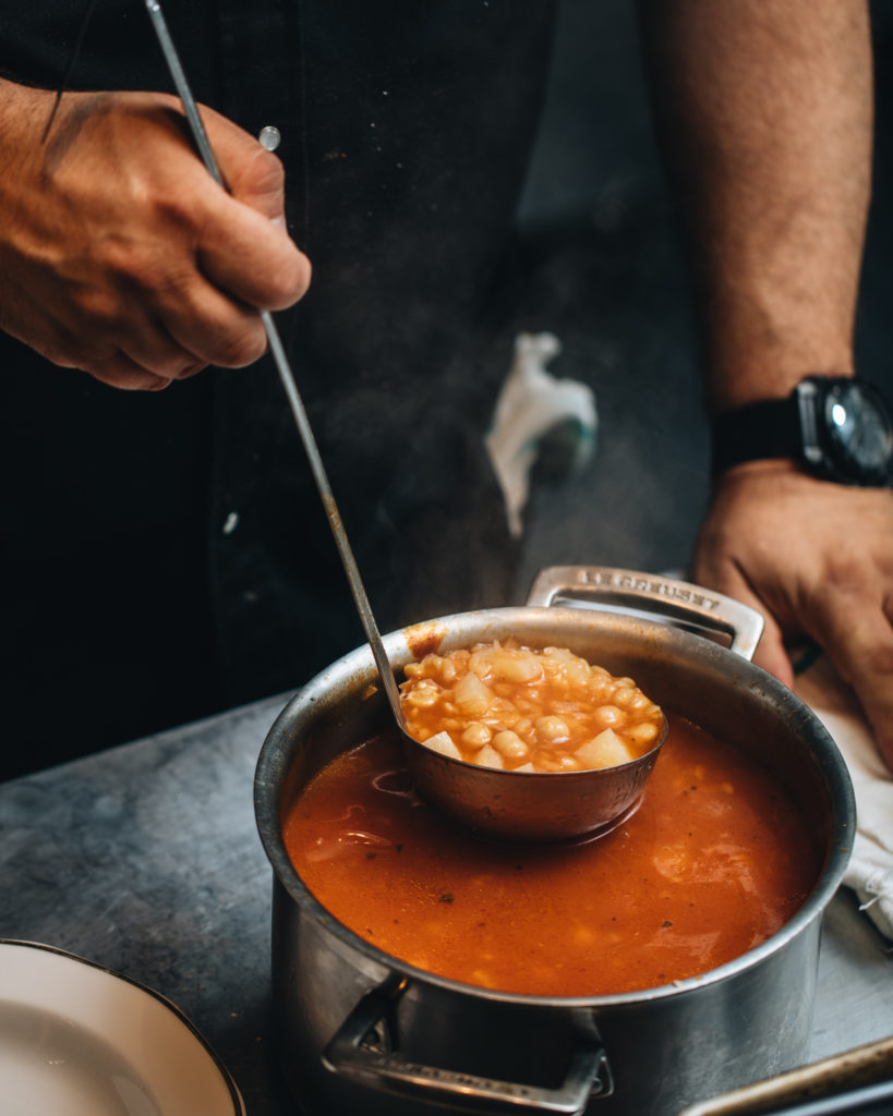 Tuscan chickpea and pastina soup